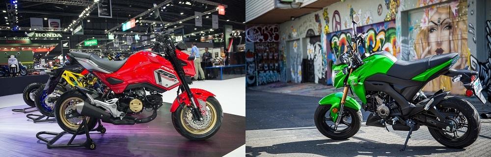 So sanh Honda MSX 2017 voi Kawasaki Z125 Pro
