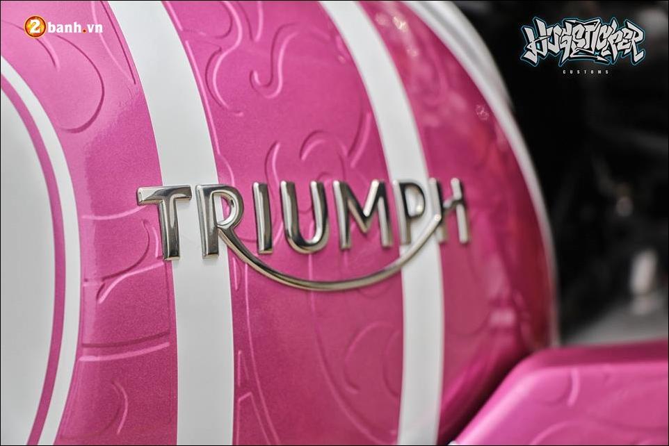 Triumph thruxton r 1200 do nu tinh cung mau hong kitty