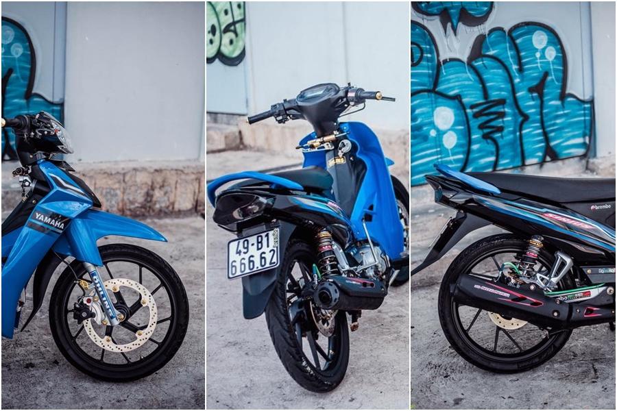 Yamaha Sirius do kieng dep lung linh cua biker Lam Dong