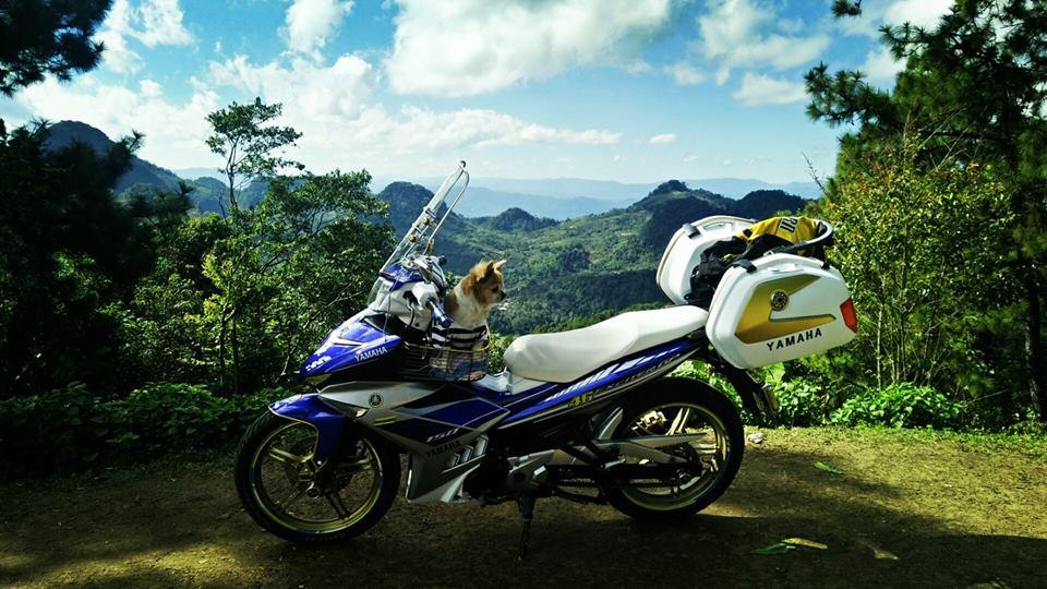 Bo anh chu cun dang yeu di phuot tren chiec Exciter 150 do cua biker nuoc ban - 6