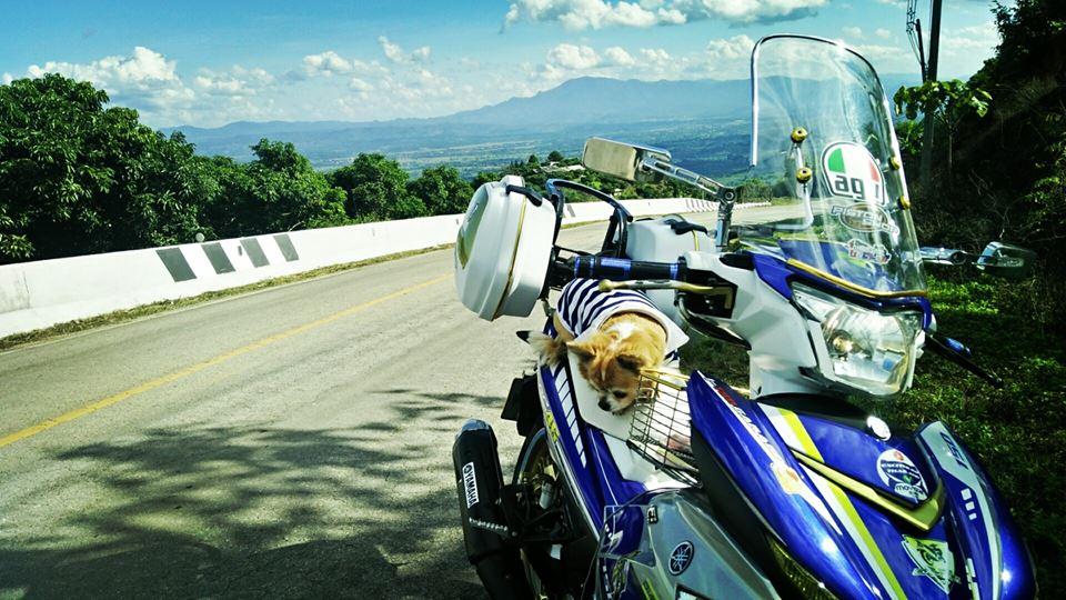 Bo anh chu cun dang yeu di phuot tren chiec Exciter 150 do cua biker nuoc ban - 7