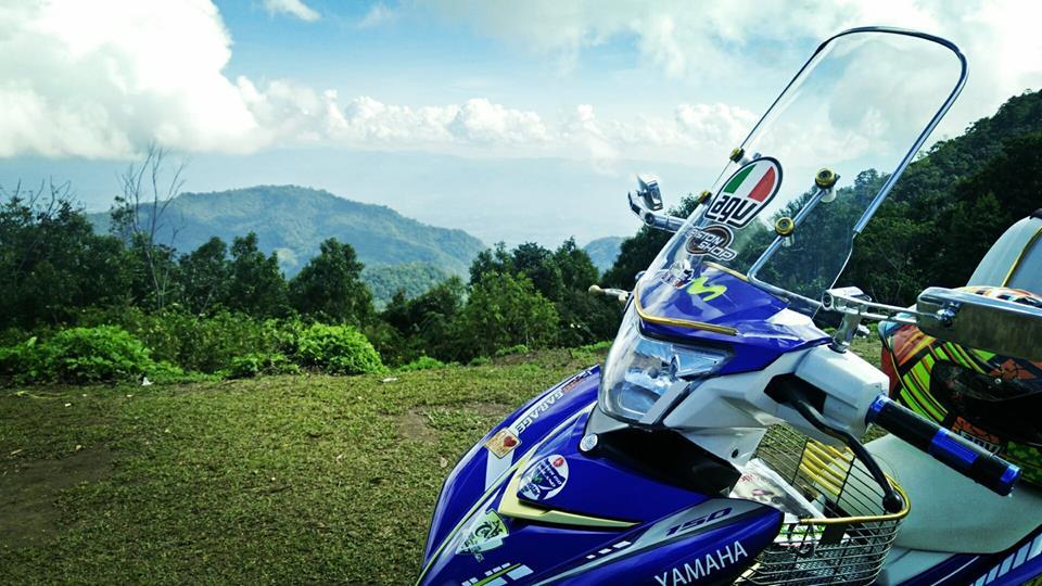 Bo anh chu cun dang yeu di phuot tren chiec Exciter 150 do cua biker nuoc ban - 8