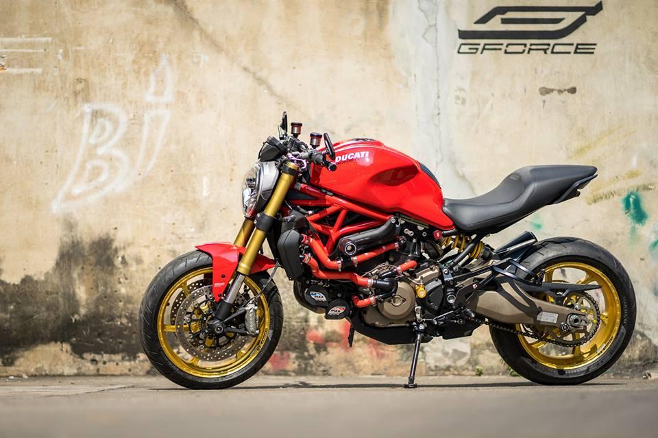 Ducati Monster 821 Makeover dien mao dep khong tuong