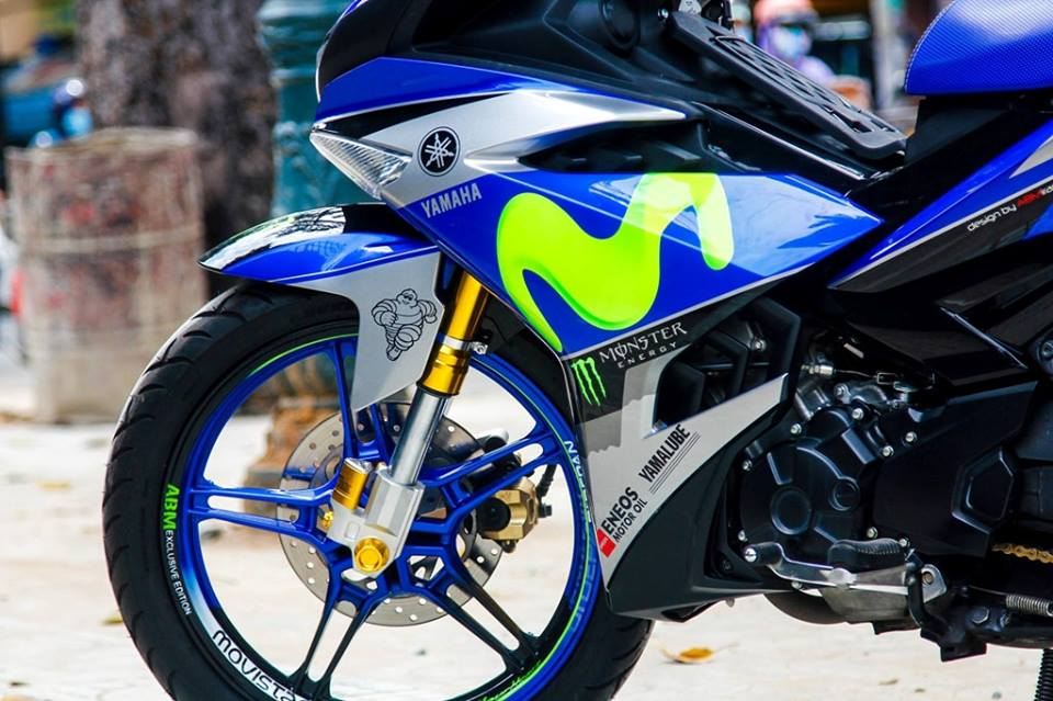 Exciter 150 do dep voi bo canh Movistar dac trung cua doi dua Yamaha Factory Racing - 5