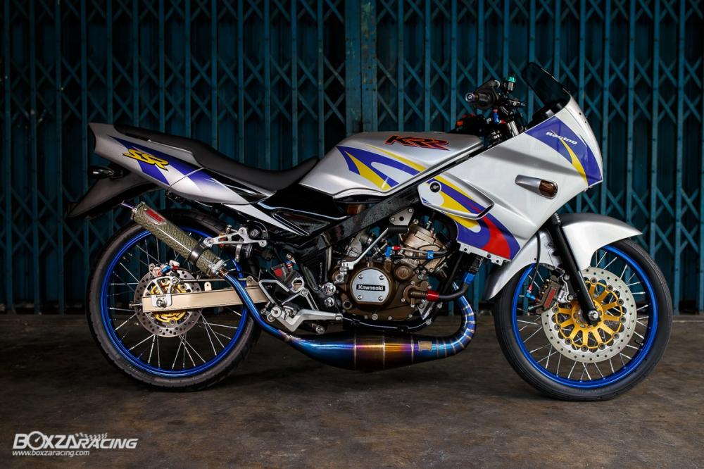 Kawasaki Kips 150 do kieng cuc khung voi dan do choi hang hieu