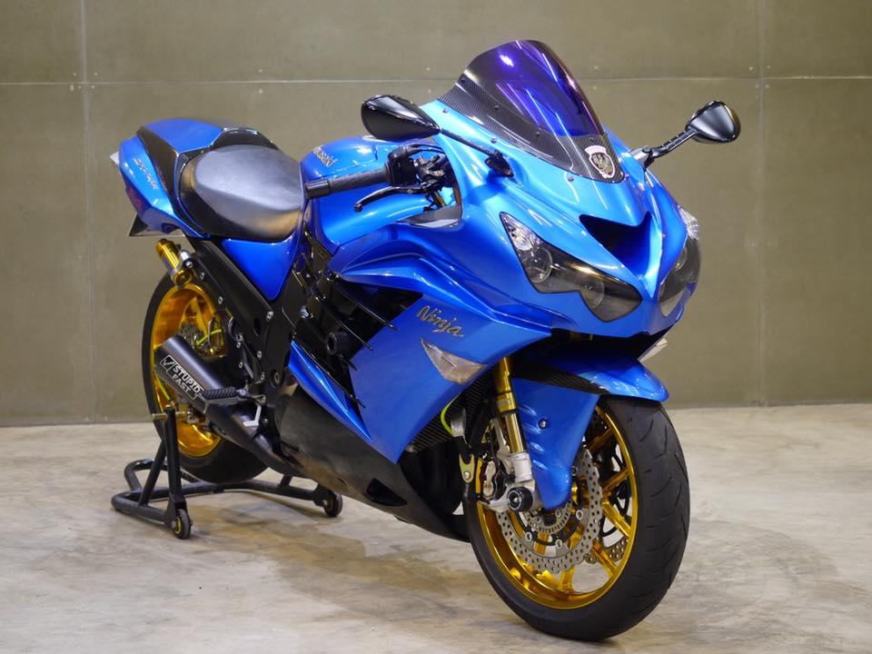 Kawasaki ZX14R Ha ma hung ton qua version Race Blue