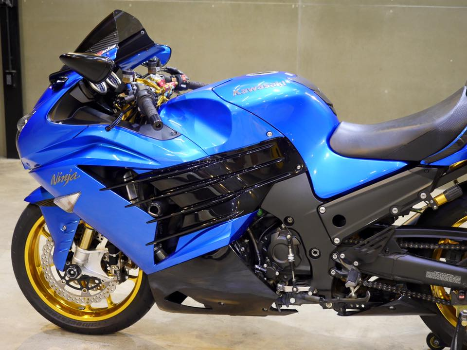 Kawasaki ZX14R Ha ma hung ton qua version Race Blue - 8