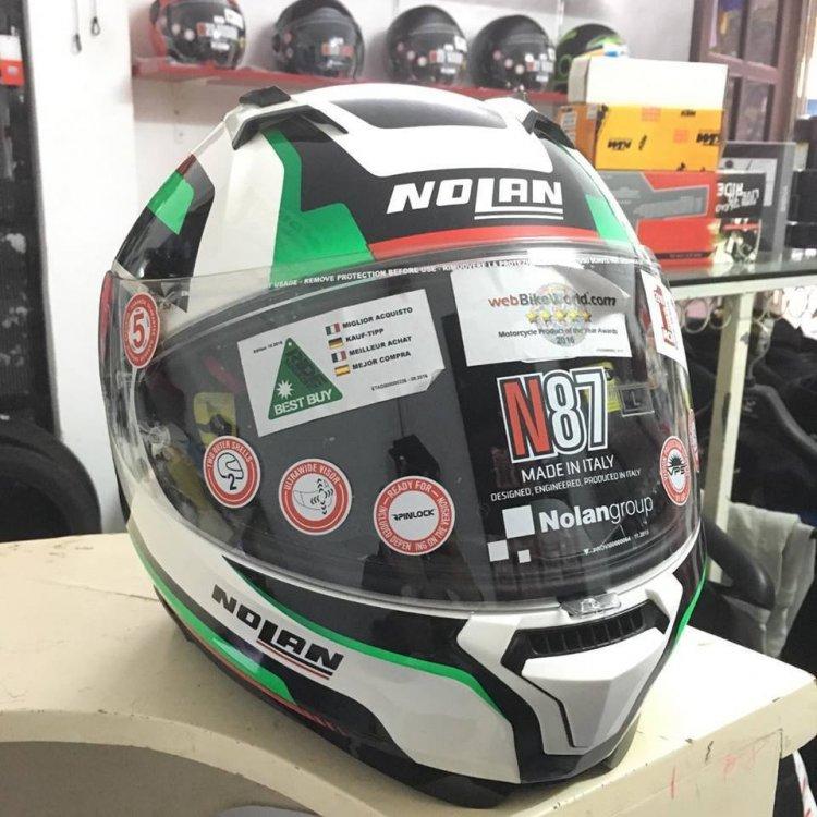 Motobox299 Nolan N87 voi phien ban trang xanh den - 6