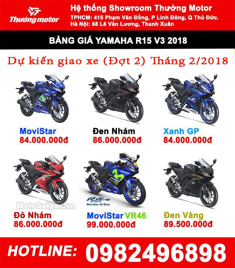 Nhan Dat Coc YAMAHA R15 V3 Model 2018 Dot 2