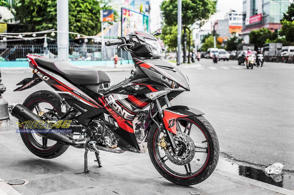 Tong hop tem xe Exciter 150 do den thang 1 do Decal46 thuc hien - 6