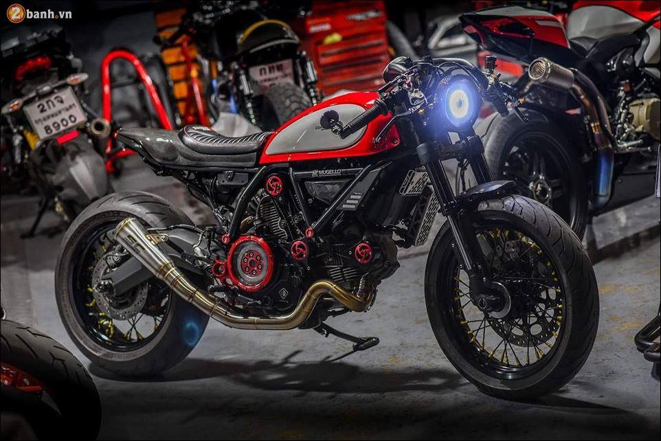Ven man Ducati Scrambler do xuat than tai xuong do Mugello danh tieng - 9