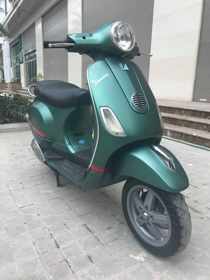 Vespa LX 125cc ban dac biet Sport mau xanh san