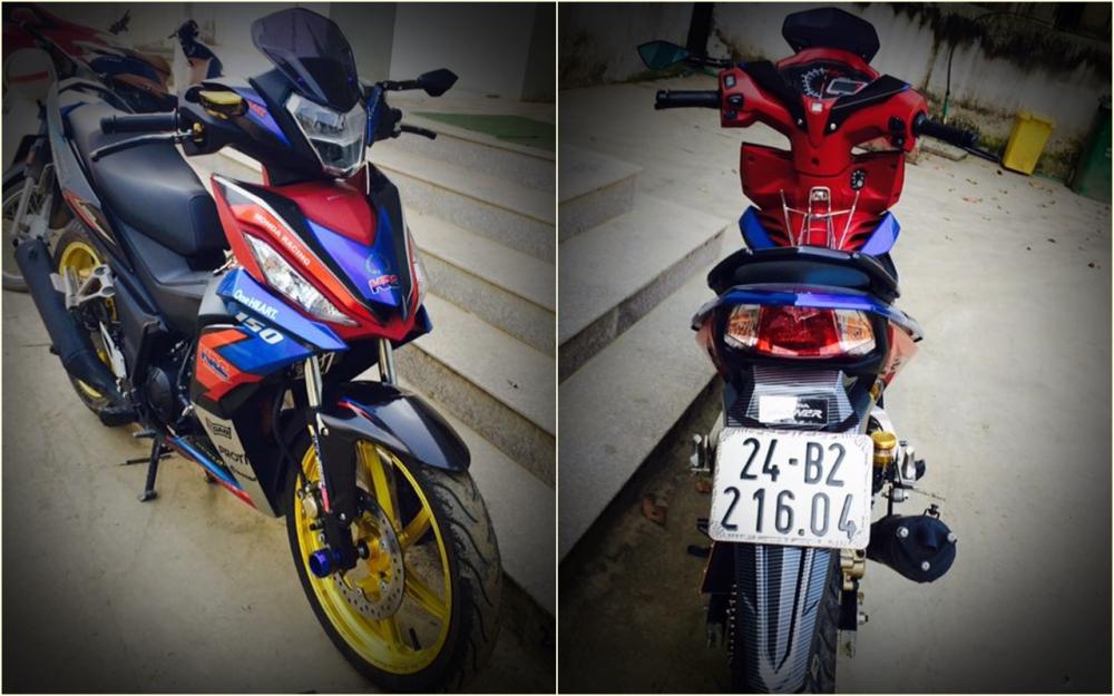 Winner 150 do dep diu dang voi phong cach HRC cua biker Lao Cai