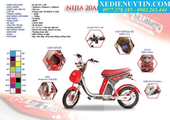 Xe dap dien Nijia 20A Deluxe chinh hang - 2