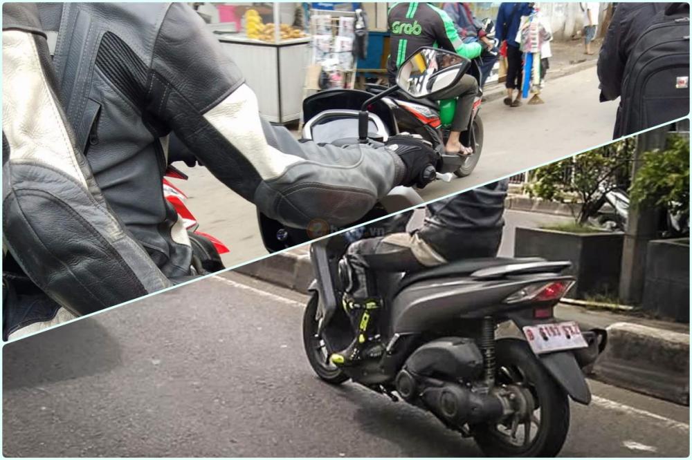 Yamaha Lexi 125 2018 Lo anh tren duong chay thu