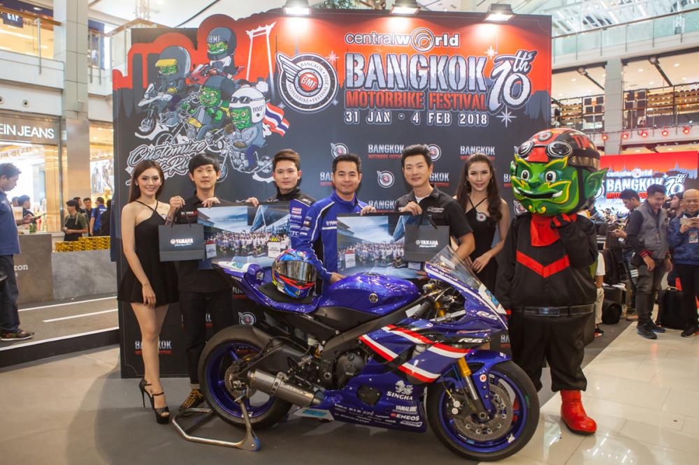 Yamaha Thai Lan Racing Team vua ra mat tai Bangkok Motorbike Festival 2018