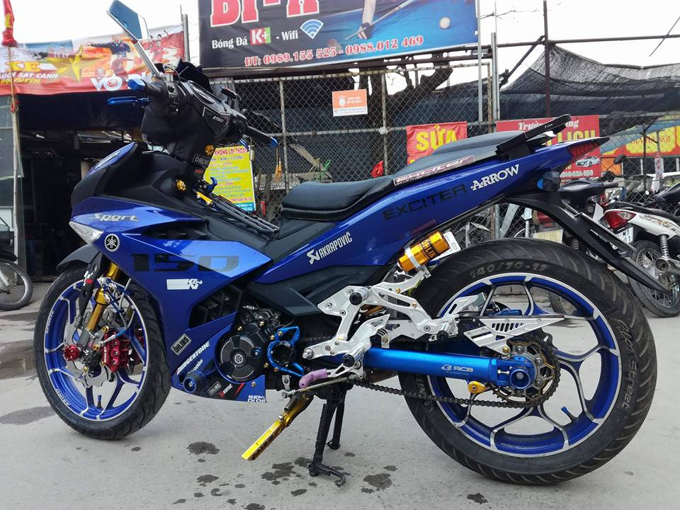 Exciter 150 do ham ho voi loat option do choi kieng cua biker Ha Noi - 8