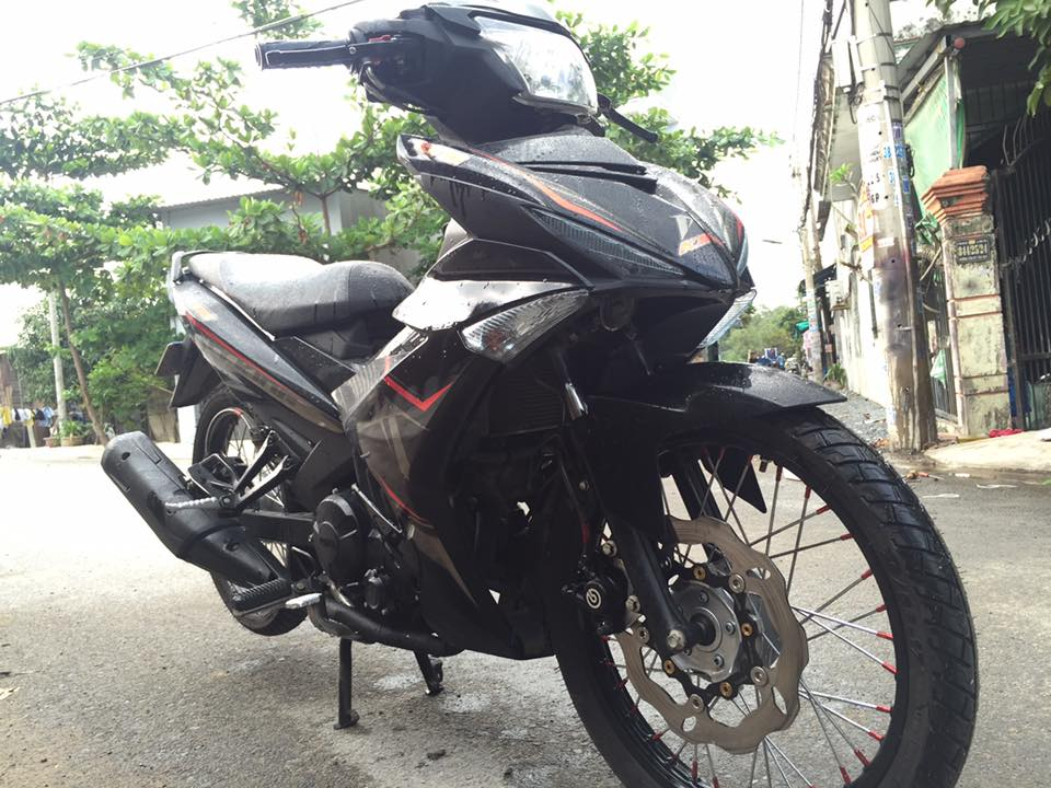 Exciter 150 do phong thai Mxking red black day lich lam - 4