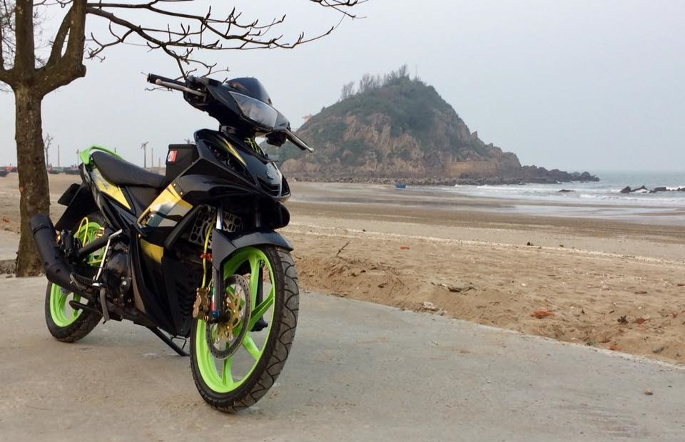 Exciter 2010 do don gian mang sac thai cuc ngau cua biker Nghe An