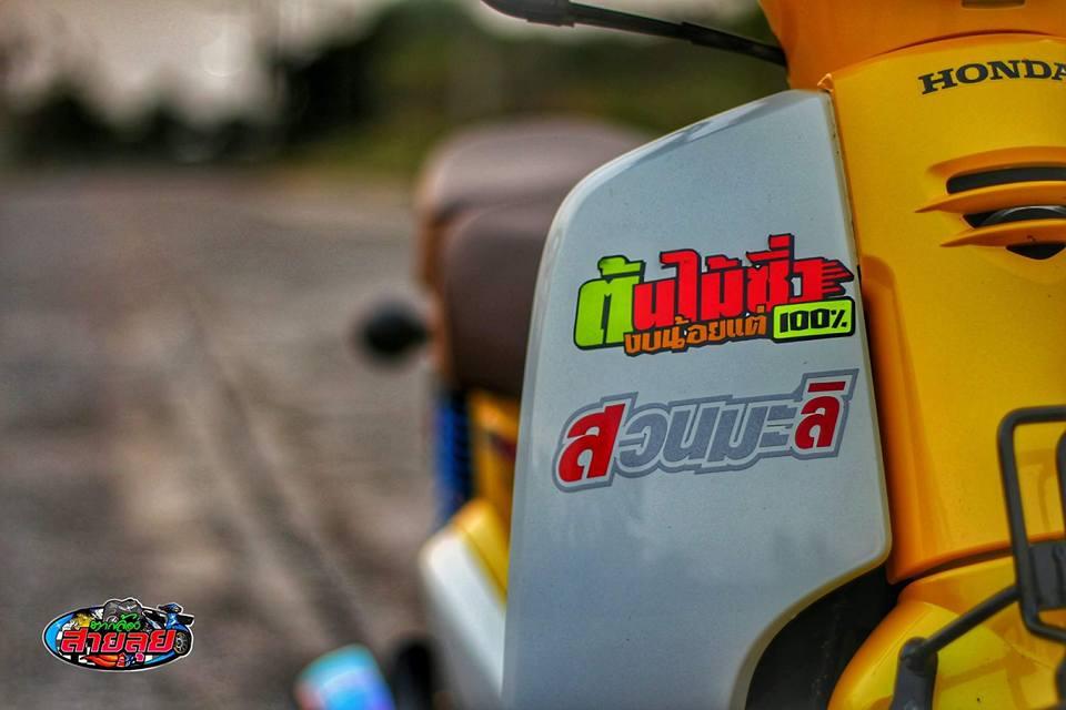 Honda Cub do voi option do choi kieng gia tri cua biker Thailand