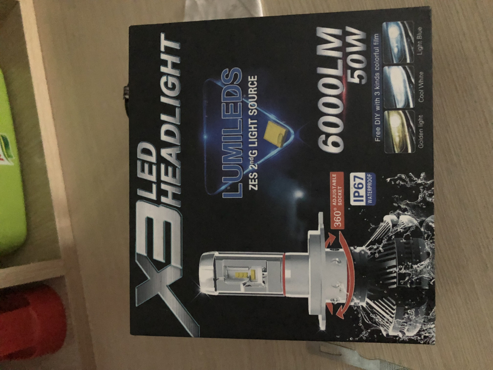 Lumiled X3 headlight chan H7 300K