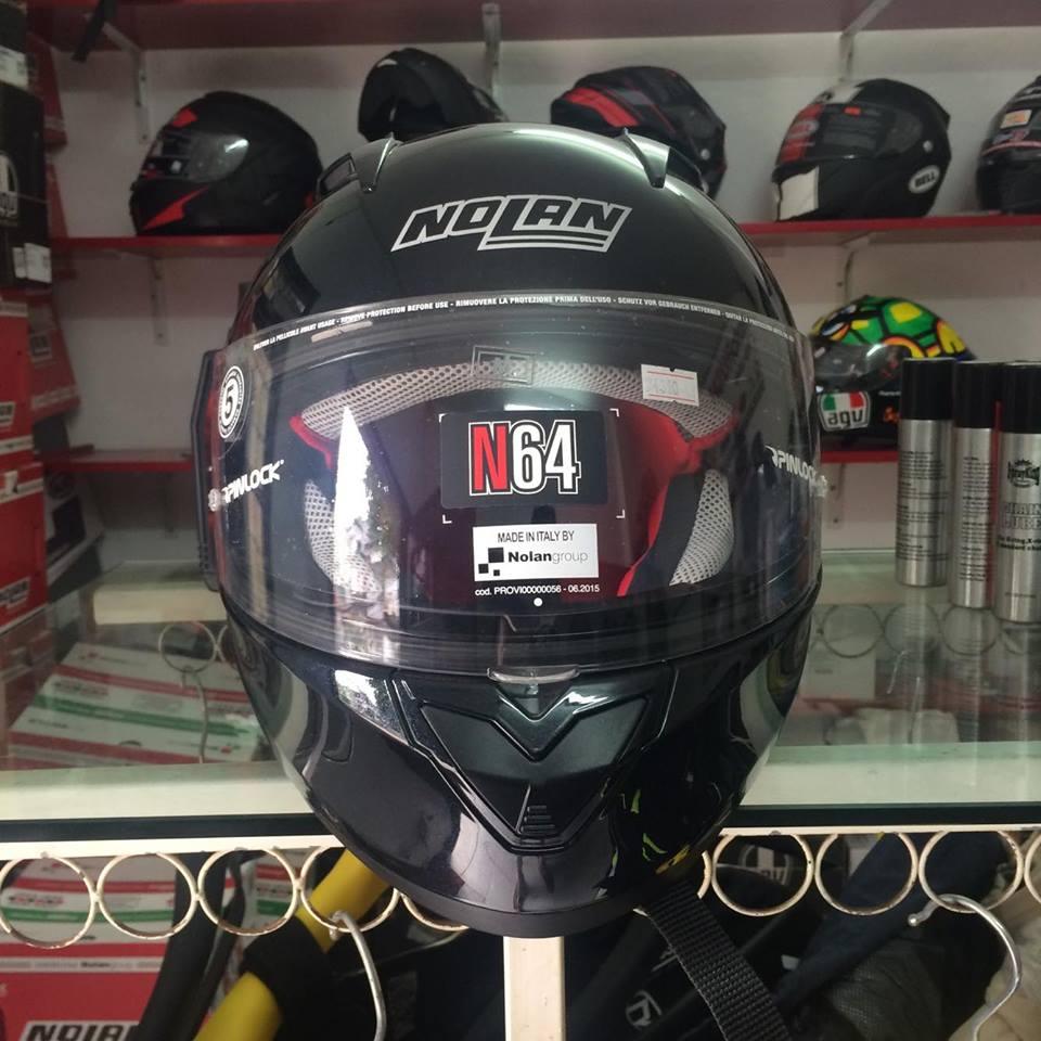 Moto299 Mu bao hiem nho nhe Nolan N64 den bong - 2