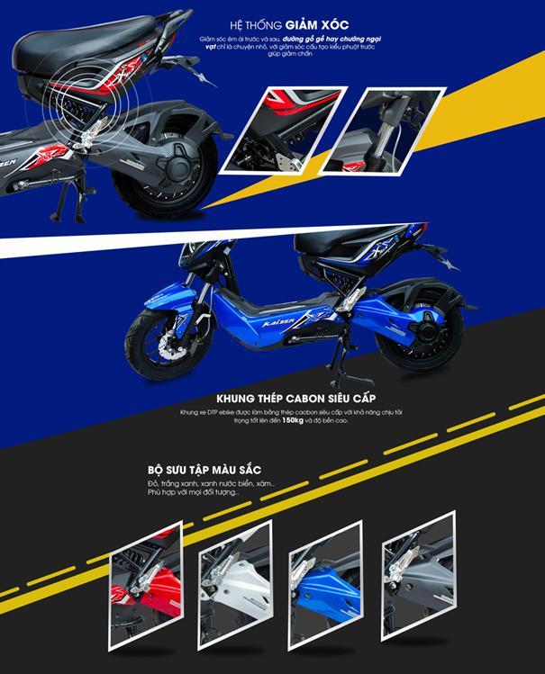 Xe may dien Xmen Pro 2017 chinh hang DTP moi - 3