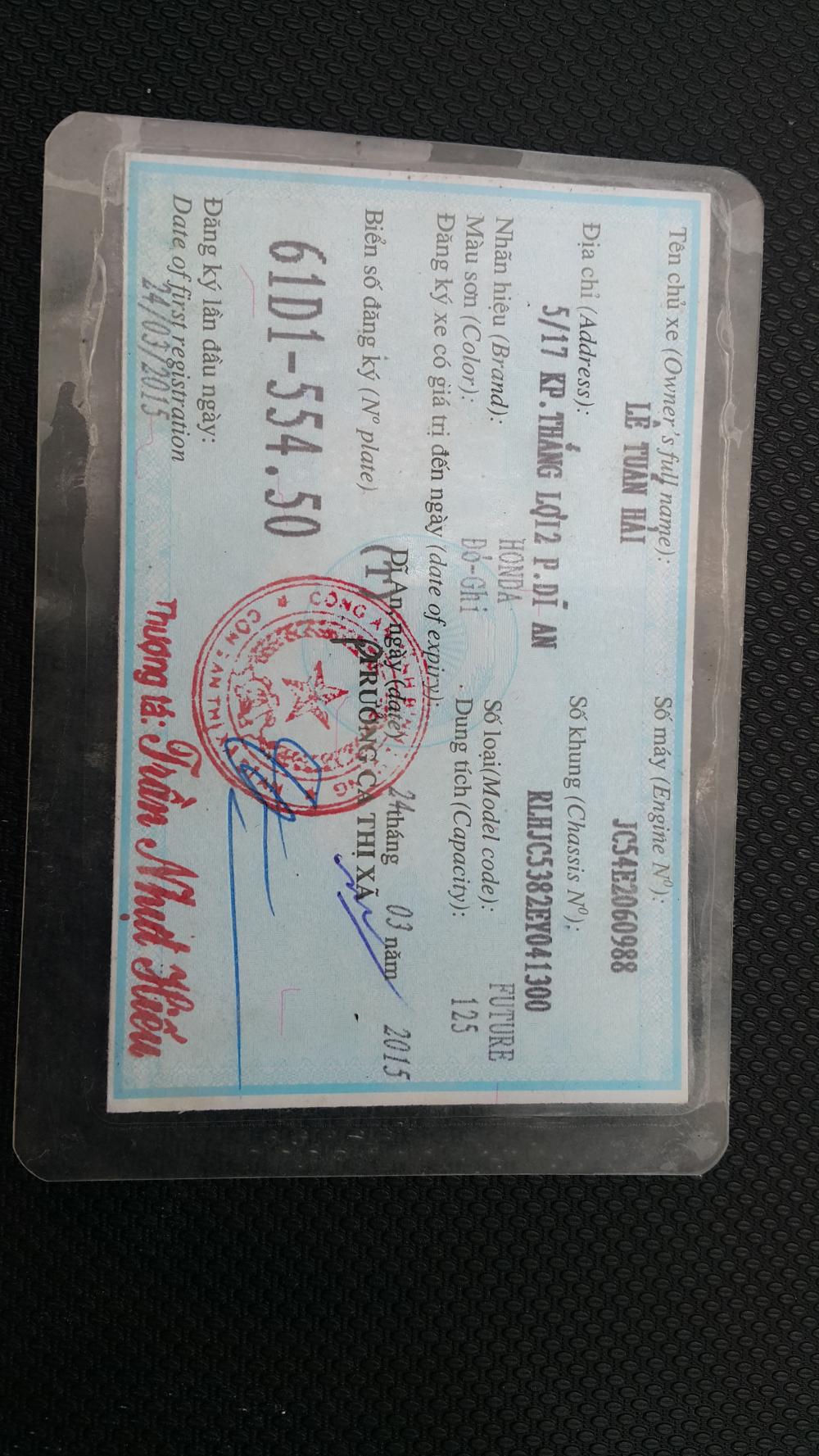 Ban xe FUTURE FI 125cc Zin 100 chinh chu ban - 4