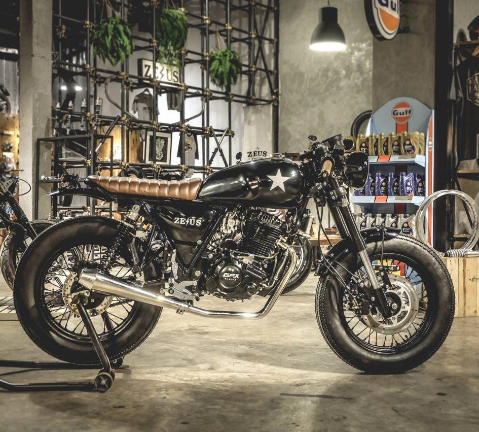 GPX Legend 200 ban do Cafe Racer dam chat Thai - 12