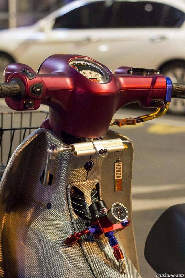 Honda Cub do mang ve dep duyen dang cua biker nuoc ban - 4