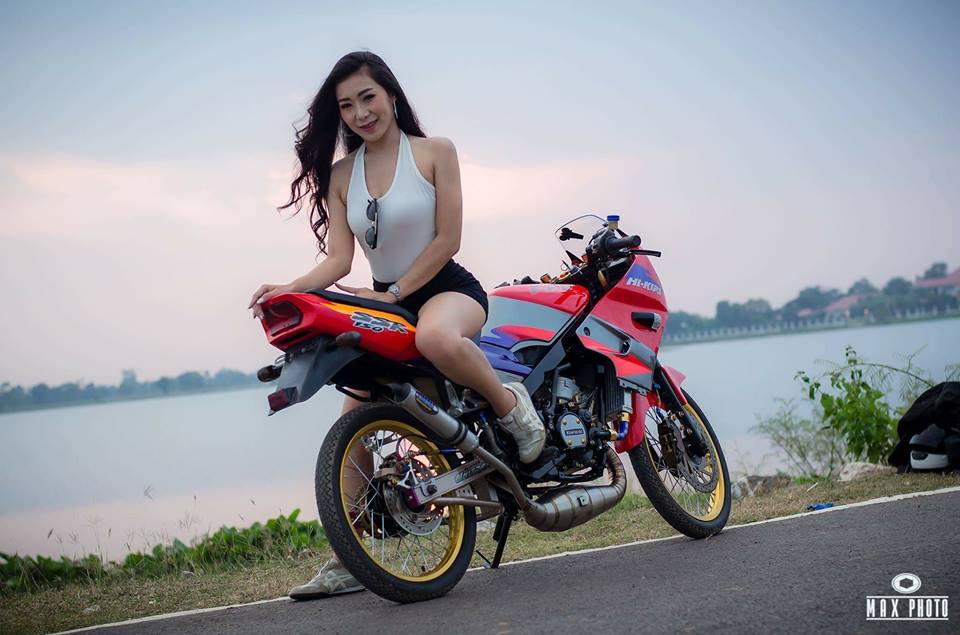 Kawasaki Kips 150 do yeu long truoc bong hong sexy cua biker Thailand - 6