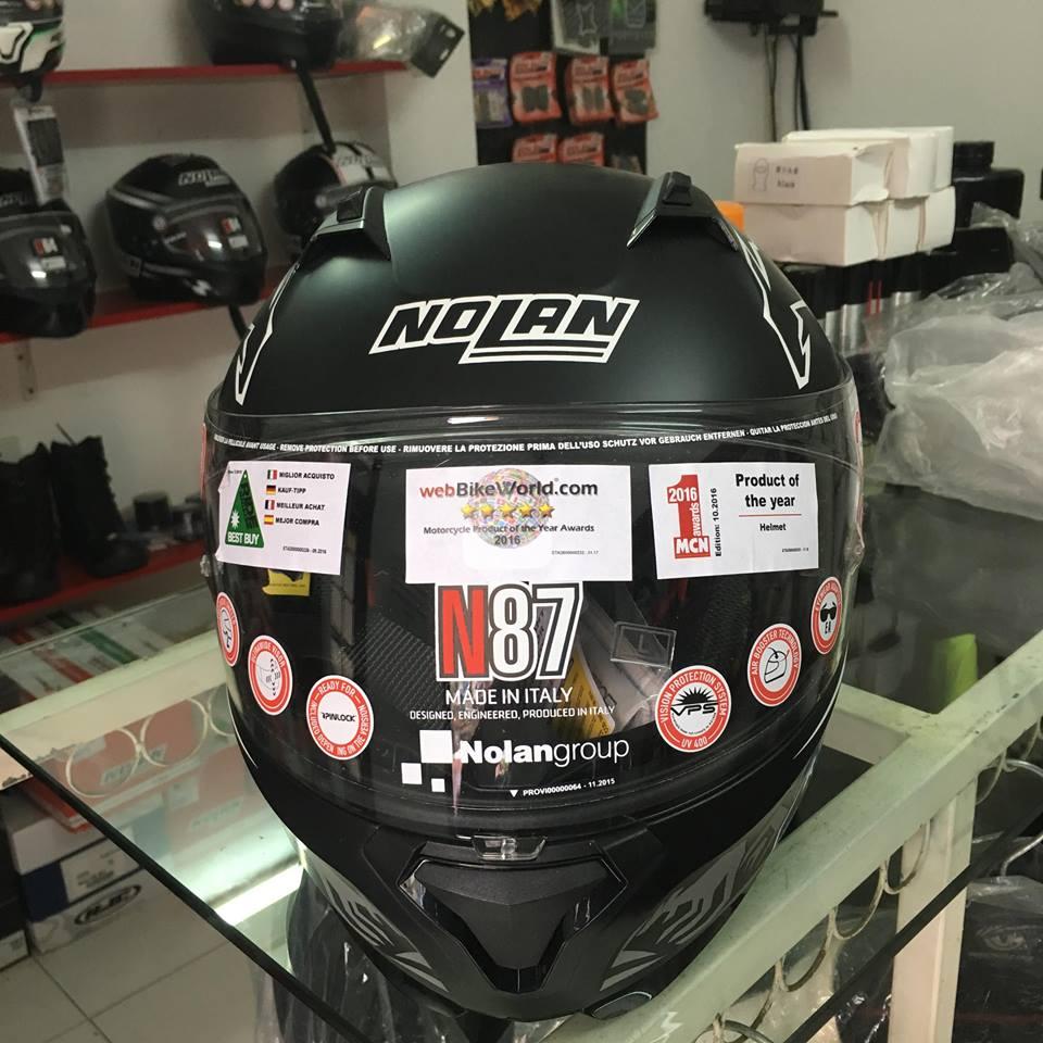 motobox Nolan N87 Stoner Black in hinh chuot tui - 2