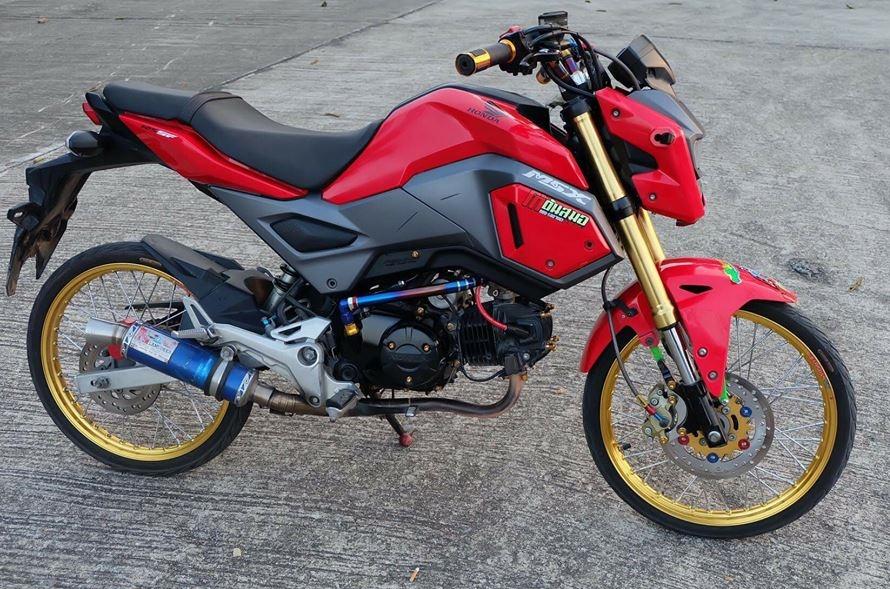 MSX 125 do an tuong voi dan chan sieu mau cua biker Thailand - 3