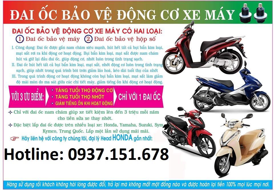 Oc nhot nam cham cho xe so Winner WaveDream Xe Tay Ga