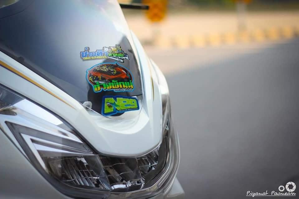 PCX 150 do Drag tao dang ben con duong cao toc cua biker Thailand - 4