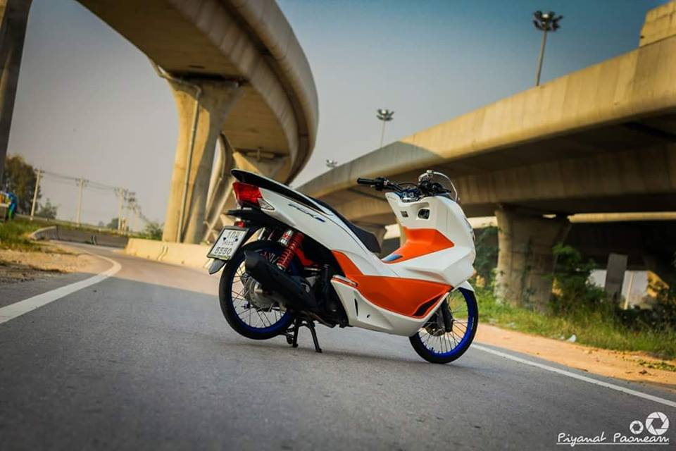 PCX 150 do Drag tao dang ben con duong cao toc cua biker Thailand - 12