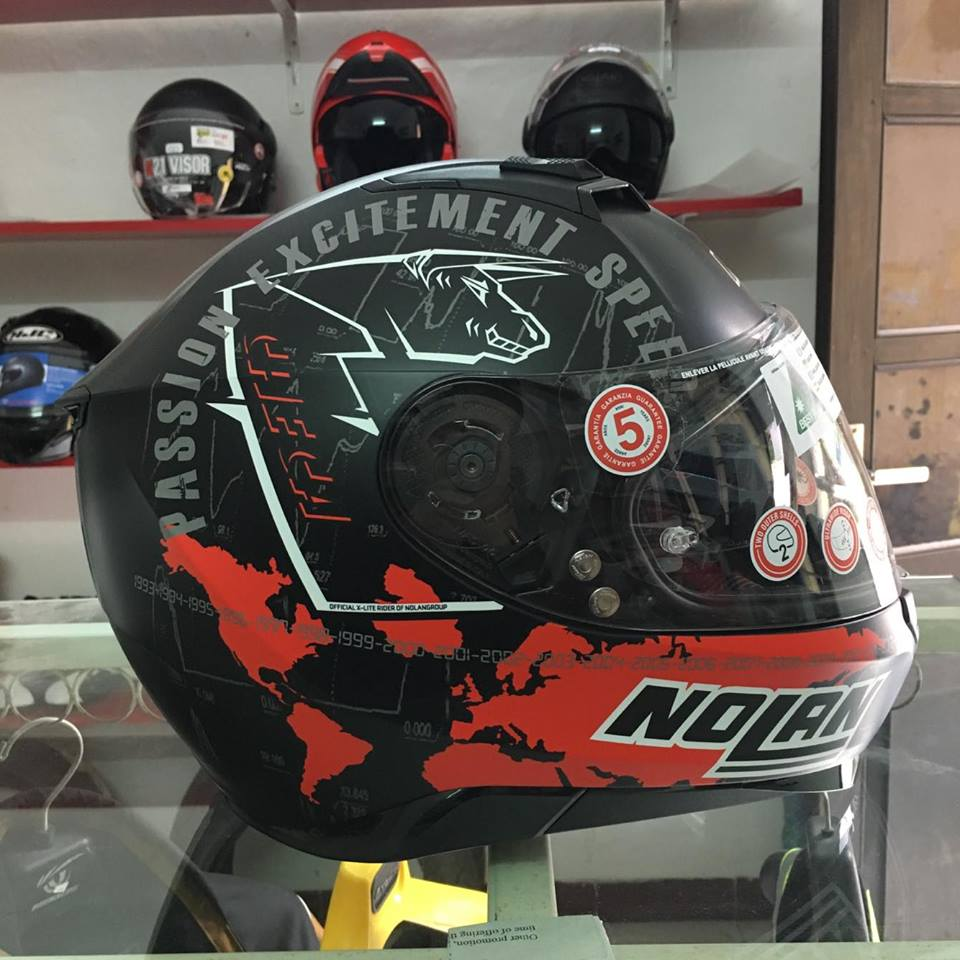motobox Nolan N87 Checa Flat Black 34 den cham do - 4