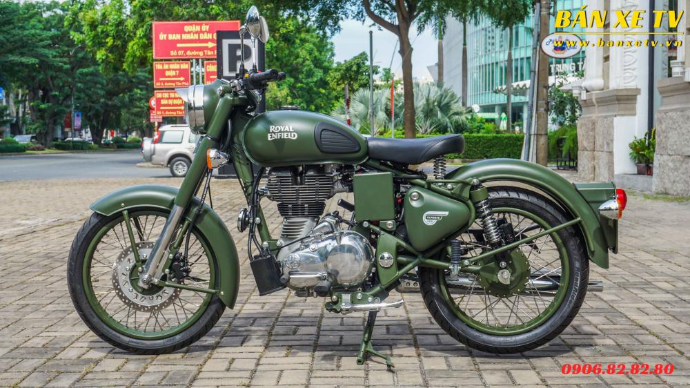 Royal Enfield Classic Battle Green chinh hang Hoang Minh Khoi LH 0906828280