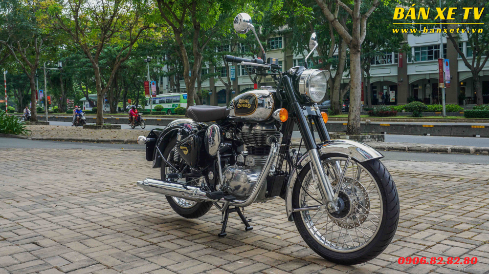 Royal Enfield Classic Chrome Black chinh hang Hoang Minh Khoi LH 0906828280 - 2