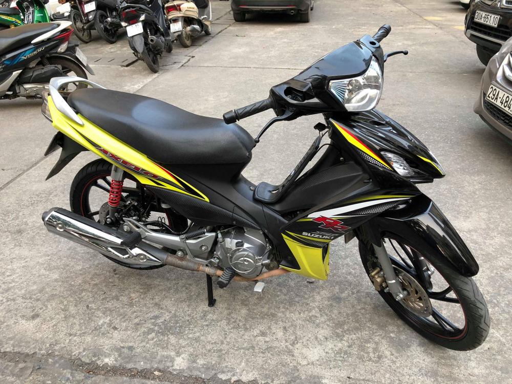 Suzuki Axelo125 RR 2014 bs 29D Xanh Den may nghin km 16 trieu chinh chu ban gap full an - 2