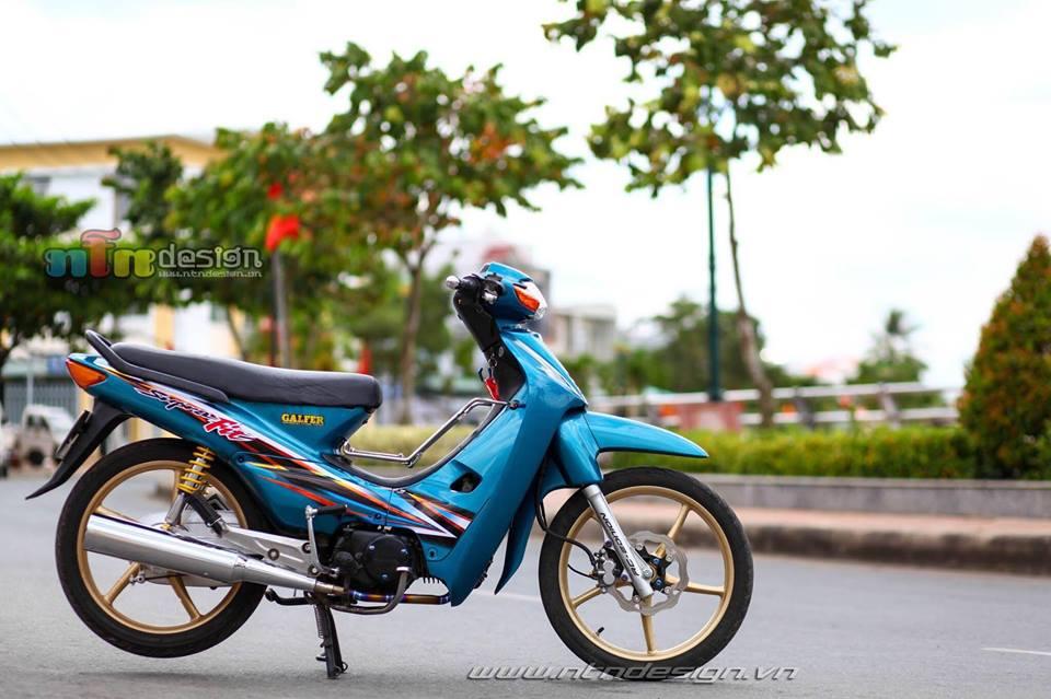 Wave 110 do dan chan Racingboy khoe dang chieu tren pho - 6