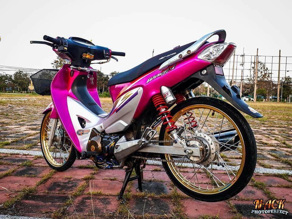 Wave 125i do mang ve dep tu tren troi roi xuong cua biker Thai - 3
