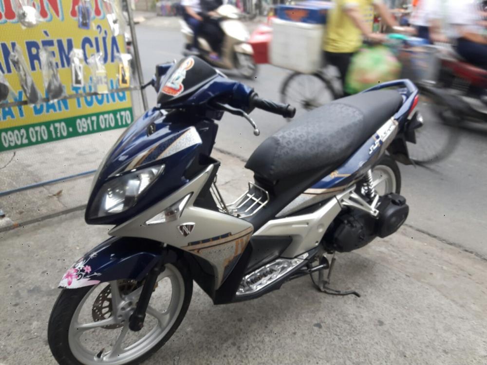 Yamaha Nouvo LX 135 mau xanh bac xe dep - 5