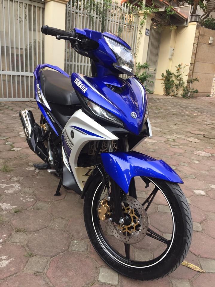 Ban Yamaha Exciter135 GP 2015 xanh trang 29Y chinh chu 25tr800 nguyen ban - 4