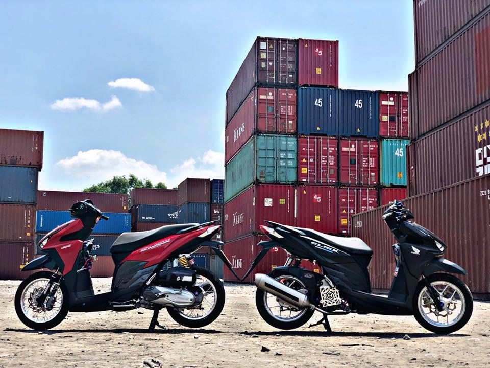 Click 125 do khoe dang ben dan thung Container - 7