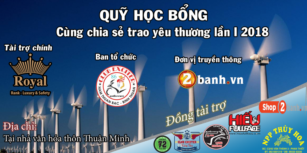 Club Exciter Ham Thuan Bac voi hanh trinh Cung chia se trao yeu thuong lan I