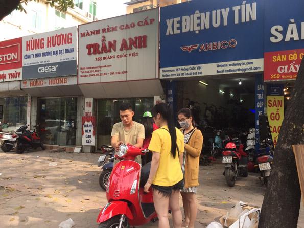 Cua hang xe dap dien o Long Bien Ha Noi