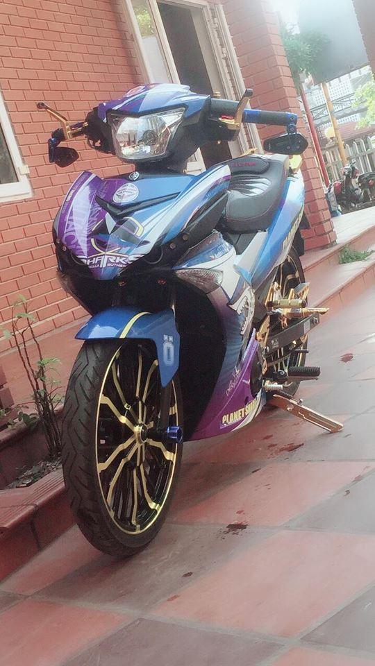 Exciter 150 do chu ca map hung ton voi dan chan co bap cua biker Quang Binh - 4