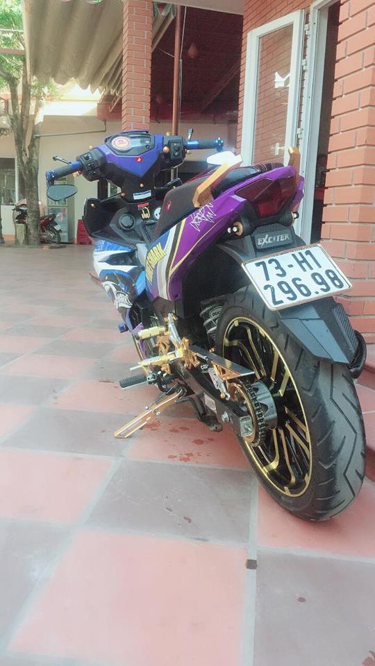 Exciter 150 do chu ca map hung ton voi dan chan co bap cua biker Quang Binh - 6