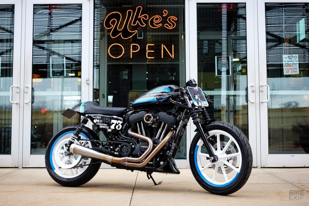 Harley Davidson SPORTSTER IRON 1200 ban do dot bien mang hinh thai Cafe Racer